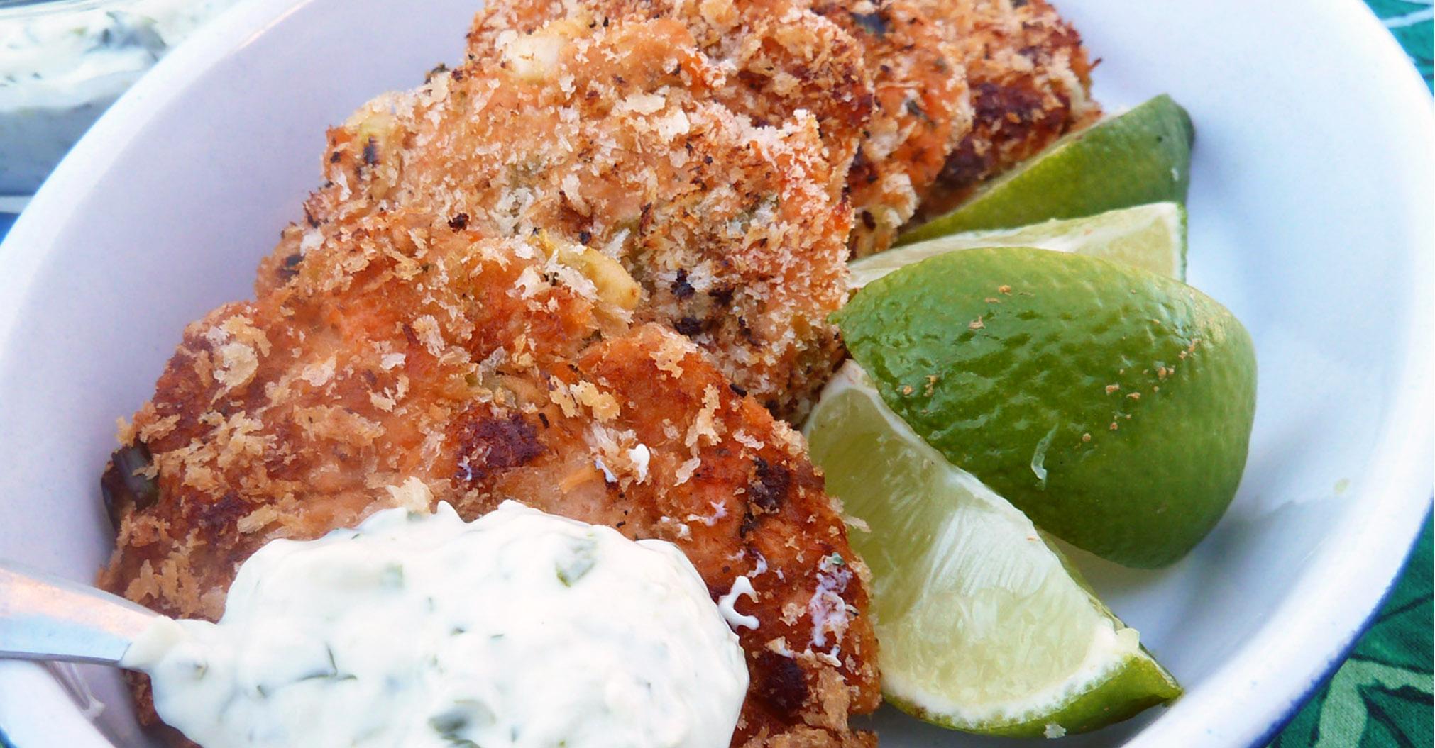 Fresh Salmon Cakes Recipe Panko